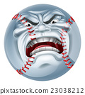Angry Baseball Ball Sports Cartoon Mascot 23038212