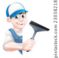 Cartoon Window Cleaner 23038218
