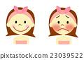 얼굴의 붉은 걱정하는 여성 23039522