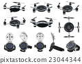 Set flying automatic drone 23044344