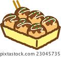 takoyaki, octopus, dumplings 23045735