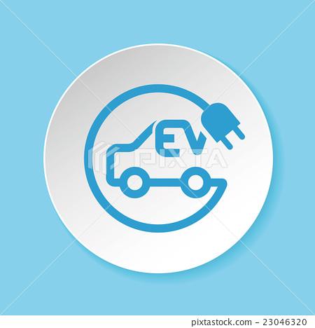 전기 자동차 충전 스테이션 아이콘 - 스톡일러스트 23046320 - PIXTA