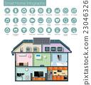 房屋 首页 图标 23046326