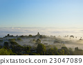 morning dew, sea of clouds, villages 23047089