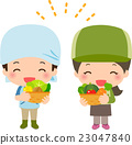 farmer, harvest, vegetables 23047840