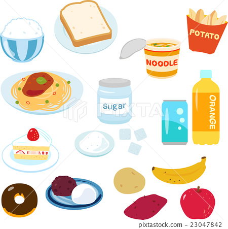 例證套富含糖的食物 23047842