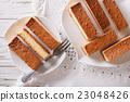 Castella Japanese cake on plate closeup 23048426