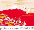 鹤 富士山 红富士 23048719