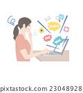 個人計算機女性例證 23048928