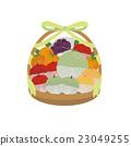 果物かご イラスト 23049255