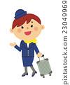 인물 일하는 여성 승무원 23049969