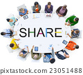 Share Sharing Networking Social Network Concept 23051488