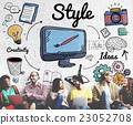Style Design Elegant Posh Trends Vogue Character Concept 23052708