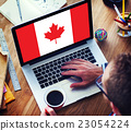 Canada National Flag Business Communication Connection Concept 23054224
