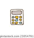 计算器 白底 矢量 23054761