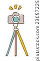 photocamera, tripod, white 23057225