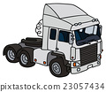 White towing truck 23057434