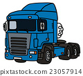 Blue towing truck 23057914