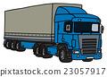 Blue cover semitrailer 23057917