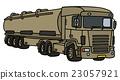 Long military tank semitrailer 23057921