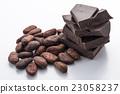 巧克力和可可豆 23058237