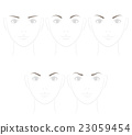 Shape of eyebrow shape Sharp image 23059454