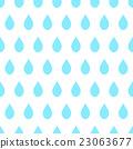Blue Rain White Background 23063677
