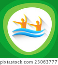 Synchronized Swimming Sport Competition Icon 23063777