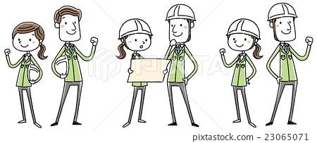 動作 姿勢 藍領工人 23065071