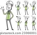 헬멧을 쓰고 작업복 남성 포즈 변형 23066001