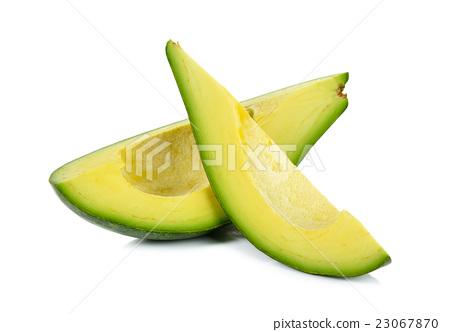 avocado isolated on the white background 23067870