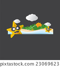 Cute Star Fish Portrait Vector Illustration. 23069623