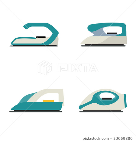 Electrical clothes iron isolated vector illustrati 23069880