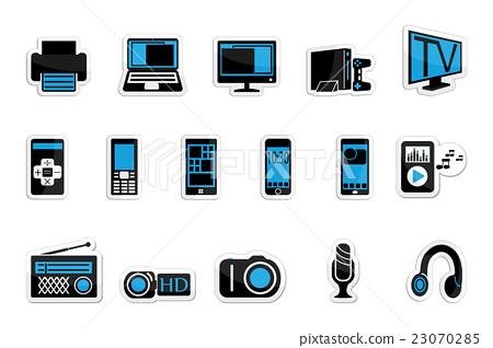 Consumer electronics icon set on white background 23070285