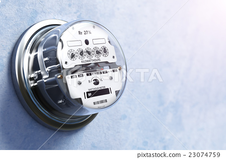 Analog Electric Meter On The Wall Electricity Stock