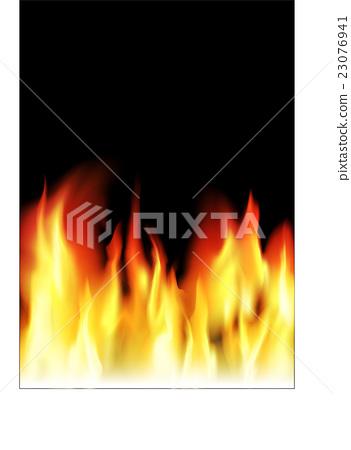 真正火紅的火焰的插圖(可編輯) 23076941