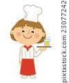 인물 일하는 여성 요리사 23077242