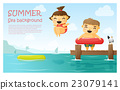 Enjoy tropical summer holiday background 3 23079141