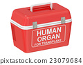 Portable fridge for transporting donor organs 23079684