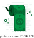 Waste Money Toilet Paper Financial Concept Vector  23082128