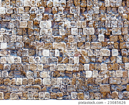 old stone wall texture photo 23085626