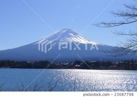 日本河口湖與富士山 23087798
