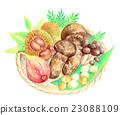 秋之美食 蘑菇 秋天 23088109