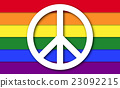 Peace Symbol On LGBT Rainbow Flag 23092215