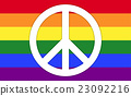 Rainbow Flag With Peace Symbol 23092216