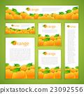 Set of Orange Banners 23092556
