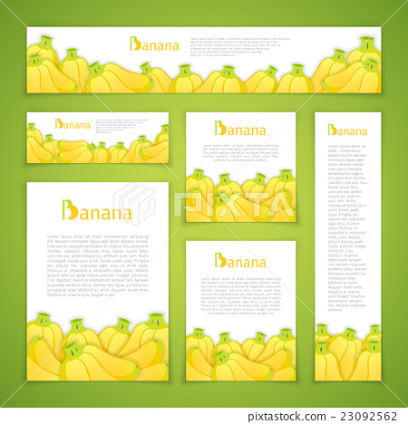 Set of Banan Banners 23092562