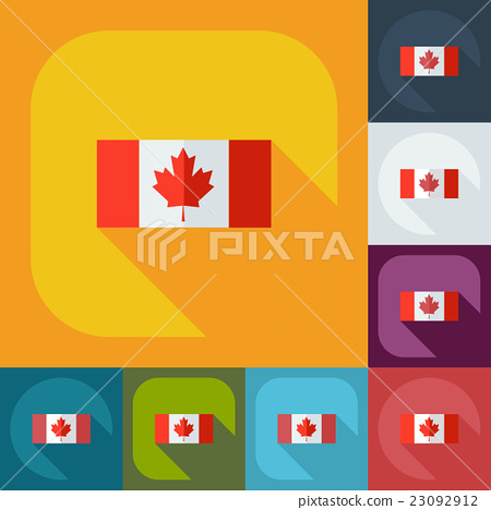 Flat modern design with shadow icons flag of 23092912