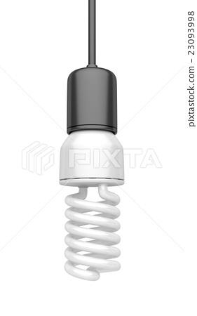 Light bulb on white 23093998
