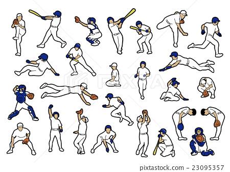 vector, vectors, baseball 23095357